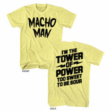 Macho Man Tower Yellow Heather Adult T-Shirt
