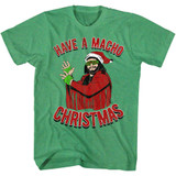 Macho Man Machomas Kelly Heather Adult T-Shirt