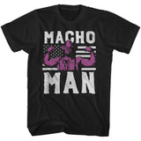 Macho Man American Hero Black Adult T-Shirt