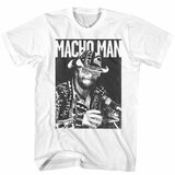 Macho Man White Adult T-Shirt