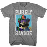 Macho Man Purely Savage Graphite Heather Adult T-Shirt