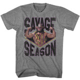 Macho Man Savage Season Graphite Heather Adult T-Shirt