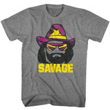Macho Man Just Savage Graphite Heather Adult T-Shirt