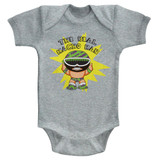 Macho Man To Be Real Gray Heather Baby Onesie T-Shirt