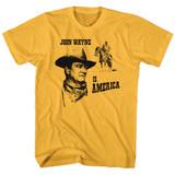 John Wayne America Ginger Adult T-Shirt
