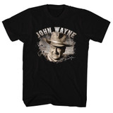 John Wayne Poppin' Out Black Adult T-Shirt