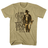 John Wayne Do It Khaki Heather Adult T-Shirt
