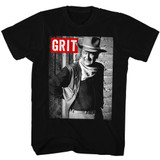 John Wayne Grit Black Adult T-Shirt