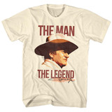 John Wayne Man Legend Natural Adult T-Shirt