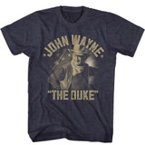 John Wayne The Duke Navy Heather Adult T-Shirt