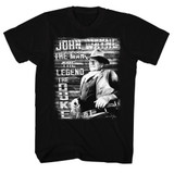 John Wayne The Man Legend Duke Black Adult T-Shirt