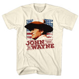 John Wayne Flag Natural Adult T-Shirt