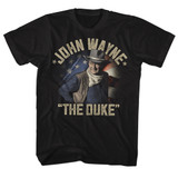 John Wayne The Duke Returns Black Adult T-Shirt