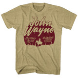 John Wayne The Big Trail Khaki Heather Adult T-Shirt