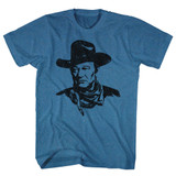 John Wayne The Duke Pacific Blue Heather Adult T-Shirt