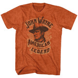John Wayne Banner Orange Heather Adult T-Shirt
