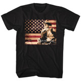 John Wayne Tin Sign Black Adult T-Shirt