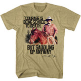 John Wayne Courage Khaki Heather Adult T-Shirt