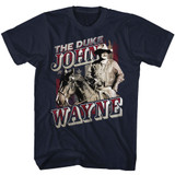 John Wayne The Duke Navy Adult T-Shirt