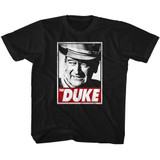 John Wayne Tha Duke Black Youth T-Shirt