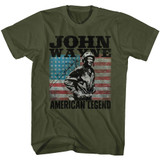 John Wayne American Legend Military Green Adult T-Shirt