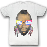 Mr. T Swwwag White Adult T-Shirt