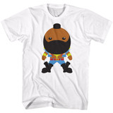 Mr. T Bubble T White Adult T-Shirt