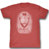 Mr. T Beards Red Heather Adult T-Shirt