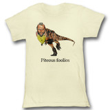 Mr. T Piteous Foolious Natural Junior Women's T-Shirt
