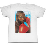 Mr. T Bust You Up White Adult T-Shirt