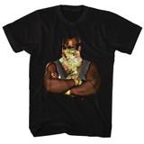 Mr. T Flower Black Adult T-Shirt