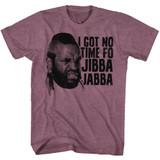 Mr. T Jibba Jabba Vintage Maroon Heather Adult T-Shirt