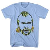 Mr. T Camo Hair Light Blue Heather Adult T-Shirt