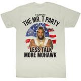 Mr. T Less Talk More Mohawk White Adult T-Shirt