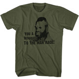 Mr. T Disgrace Military Green Adult T-Shirt