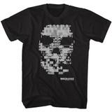 Watch Dogs Ascii Skull Black Adult T Shirt