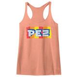 Pez Logo Vintage Light Orange Junior Women's Racerback Tank Top