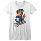 Pez Vintage Pez Girl White Junior Women's T-Shirt
