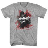 Bruce Lee Wha-Taaa Gray Heather Adult T-Shirt