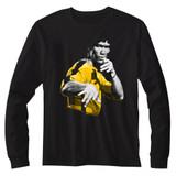 Bruce Lee Hooowah Black Adult Long Sleeve T-Shirt
