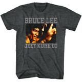 Bruce Lee Bruce Kune Do Black Heather Adult T-Shirt