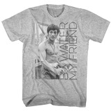 Bruce Lee Water Gray Classic Heather Adult T-Shirt