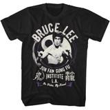 Bruce Lee Jun Fan Gung Fu Black Adult T-Shirt