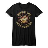 Bruce Lee Jeet Kune Do Master Black Junior Women's T-Shirt