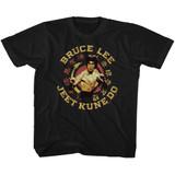 Bruce Lee Jeet Kune Do Master Black Youth T-Shirt