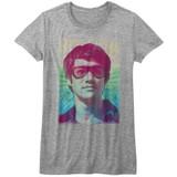 Bruce Lee Rainbow Gray Heather Junior Women's T-Shirt