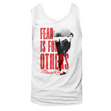 Bruce Lee Fear White Adult Tank Top T-Shirt