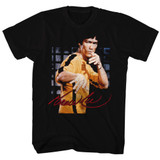 Bruce Lee Pose Black Adult T-Shirt
