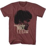 Bruce Lee Established 1960 Vintage Maroon Heather Adult T-Shirt