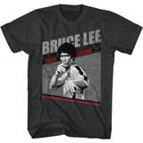 Bruce Lee Bruce Lee Symbol Black Heather Adult T-Shirt